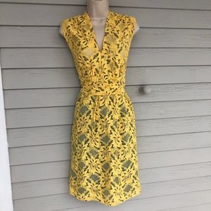 ANTHROPOLOGIE yellow lace dress/NWT/10